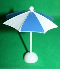 Dekoration Sonnenschirm blau/weiß 10,5 cm h  10 cm d Metall Blech Basteln Deko