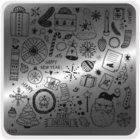 MoYou Nail Fashion Stamping Nail Art Image Plate 453 Christmas stencil tamplate