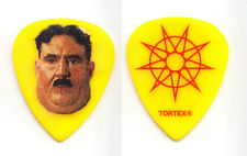 Slipknot Alessandro Venturella Monty Python Yellow Guitar Pick 2015 Tour