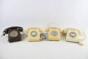 4 x Assorted Vintage Dial-Up ROTARY TELEPHONES Inc Post Office, B.T, Bakelite