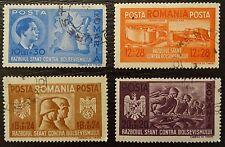 Rumänien 706-709 , Waffenbrüderschaft mit Deutschland , Gestempelt