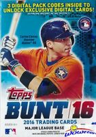 (6) 2016 Topps BUNT Baseball EXCLUSIVE Factory Sealed Blaster Boxes-22 Loot !!