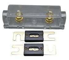 New listing Anl Fuse Holder Distribution Inline 0 4 8 Ga Gold Plated Free 2X80A Fuses 127G