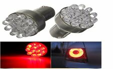 2 X 1157 BAY15D Globes 12 LED SMD Coche Freno deja de Luz Lámpara Bombilla Rojo vendedor del Reino Unido