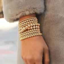 Bohemian Gold Filled Beads Beaded Beaded Stretch Stackable Bracelets Men Women
