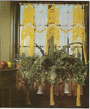 Planter Hanger Window Curtain Pattern Macrame A Designer's Collection Book