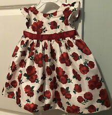 Gymboree 6-12 Months Party Dress White Red Floral Holiday