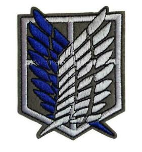 Attack on Titan Wings of Freedom Logo Embroidered Iron On Patch