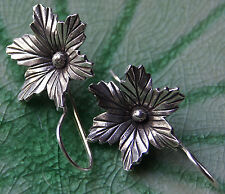 Earrings Flower Karen Hill tribe Pure Silver
