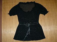 Feine Damen-Pullover mit Rundhals und Schnürung