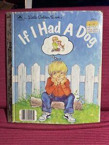 If I Had a Dog 1984 LIttle Golden Book, Lilian Obligado, Western Publishing, WI