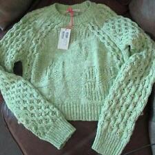 new genuine SEE BY CHLOE green basket weave designer cotton jumper UK14 US10 I46