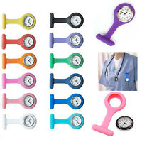 Silicone Nurse Watch FOB Clip Brooch Doctor Tunic Pocket Hanging Nursing Medical