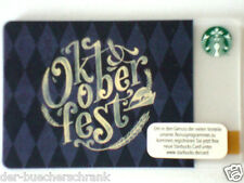 "STARBUCKS ""Oktoberfest"" 2015 gift card Germany -Geschenkkarte Fehldruck-misprint"