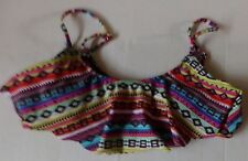YM women's bikini swimsuit top-Multi colored-Size large
