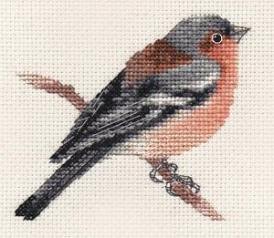 CHAFFINCH Garden Bird  Full counted cross stitch kit with all materials