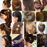 Elegant Women Crystal Rhinestone Hair Pin Clips Barrette Hairpin Bridal Jewelry