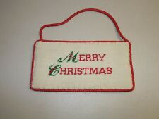Peking Handcraft. Inc. Merry Christmas Embroidered Door Sign Decoration Holidays