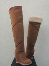 "UGG CLASSIC MONDRI OVER THE KNEE SHEEPSKIN 4"" WEDGE BOOTS, US 5/ EUR 36 ~NIB"