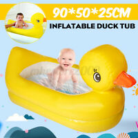 Inflatable Duck Tub Boat Baby Bathing Swimming Pool Kids Paddling Fun