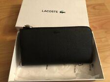 BNIB Lacoste Black Slim Zip Wallet Purse