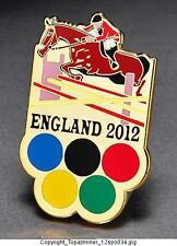 OLYMPIC PINS 2012 ENGLAND U.K. SPORT OF EQUESTRIAN HORSES COMMEMORATIVE - GOLD