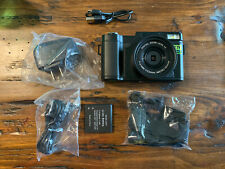 CMOS Camera Digital zoom with strap, charger, USB Cord, and Battery. (D)