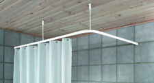 Duschabtrennung Duschvorhangstange Winkelschiene weiss incl.2 Dckenhalterungen