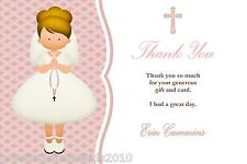 10 Personalised Communion Thank You Cards Girl 1