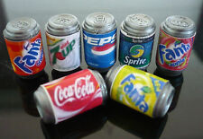 7 Soda Cans Packs Dollhouse Miniature Beverage Drink Soft