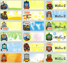 120 Thomas and Friends pics personalised name label (Small size)