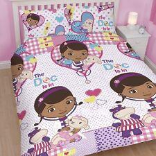 Disney Doc McStuffins Patch DOUBLE Rotary Duvet Cover Bed Set Dottie Stuffy