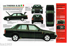 1988/1989/1990 LANCIA Thema 8.32 SPEC Hoja/Catálogo/CATALOG : FERRARI Power