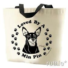 Loved By A Miniature Pinscher Tote Bag New  MADE IN USA