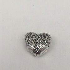 NEW AUTHENTIC PANDORA Sterling Silver Angelic Feathers Heart Charm 791751