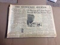 JUNE 22 1960 MILWAUKEE JOURNAL newspaper- SPACE - One Rocket Orbits 2 US Moons