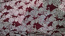 schön jerseystoff lycra grundlage rot dunkel & weiß ideal trikot 100X140 cm