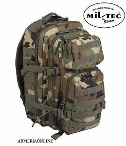 Zaino Tattico militare esercito softair miltec MIMETICO molle originale da uomo