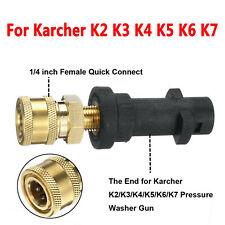 For Karcher K2 K3 K4 K5 K6 K7 Bayonet Adapter Coupling to 1/4 BSP Male Screw