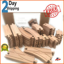 64 Wooden Train Track Lot Set Bridge Pieces Accessories Thomas Wood Tracks Brio