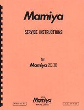Mamiya ZE Camera Service & Repair Manual Reprint
