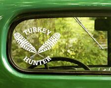2 Turkey Hunter Decals Sticker For Car Window Bumper Laptop Truck Jeep Rv