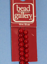 Bead Gallery Dyed Red Bamboo Coral beads 5mm round (50 beads)