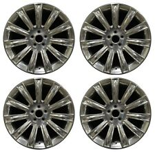 "20"" Lincoln MKS 2009 2010 2011 2012 Factory OEM Rim Wheel 3764 Polish Set"