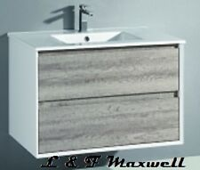 Polyurethane Gloss Frame and timberlooking Vanity with ceramic basin 600mm