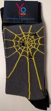 Spider Web Halloween Men's Crew Socks by Yo Sox - New!