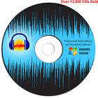 Audacity Professional Audio Music Studio Editing-Recording Software-Windows-CD