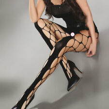 Women Sexy Fishnet Mesh Nylon Thigh High Stockings (INT)
