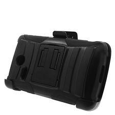 Hybrid Hard Case Soft Cover+Belt Clip Holster For Lg Sunrise L15G / Lucky L16G