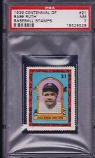 1939 Centennial of Baseball stamp, BABE RUTH< PSA 7..HIGH GRADE!